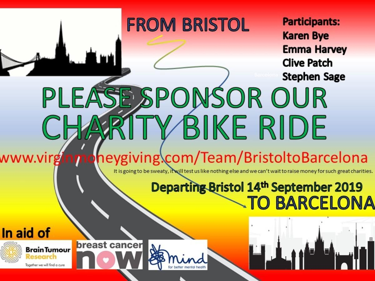 BRISTOL TO BARCELONA CHARITY CYCLE RIDE