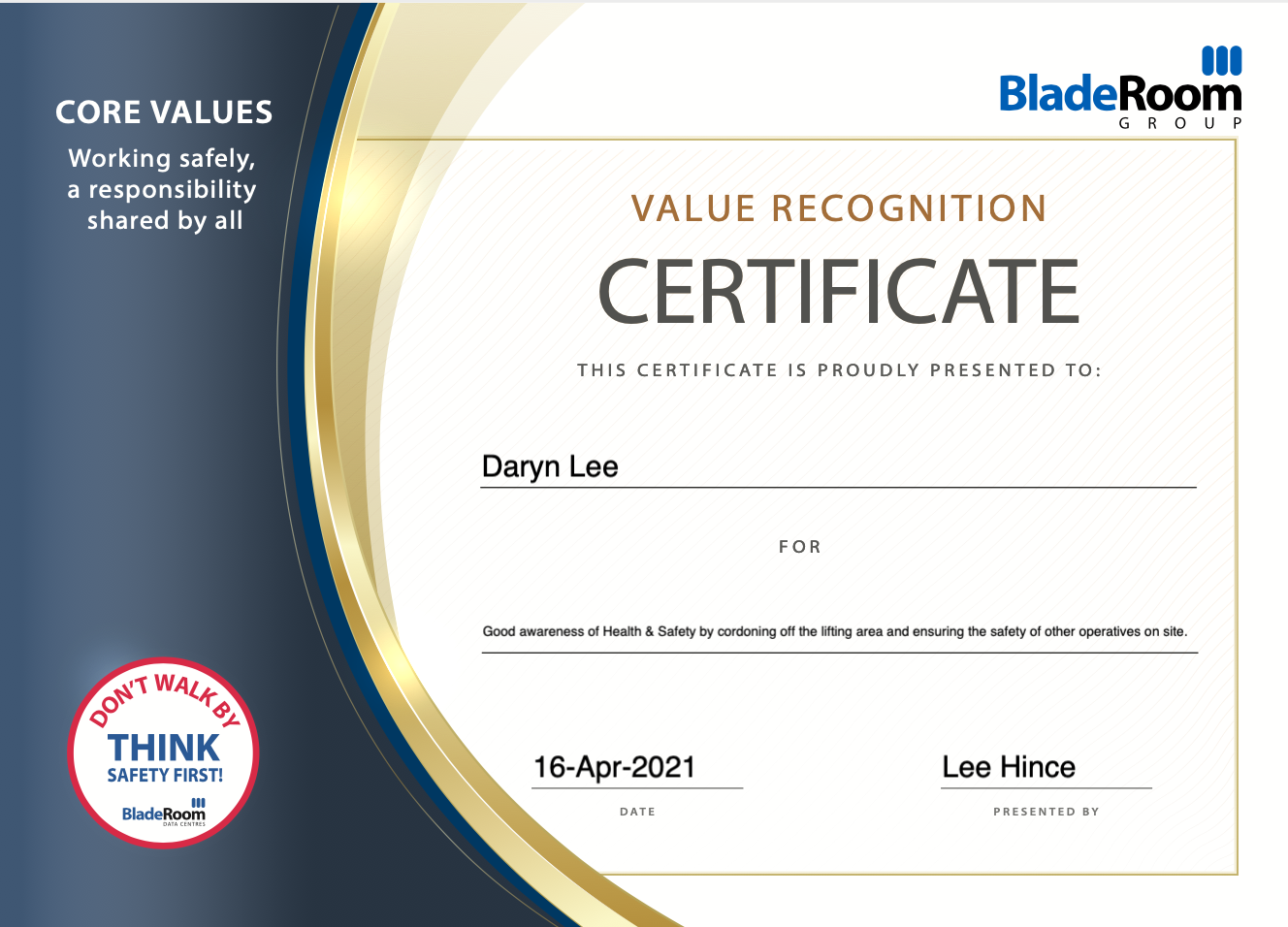Well Done to Daryn Lee!